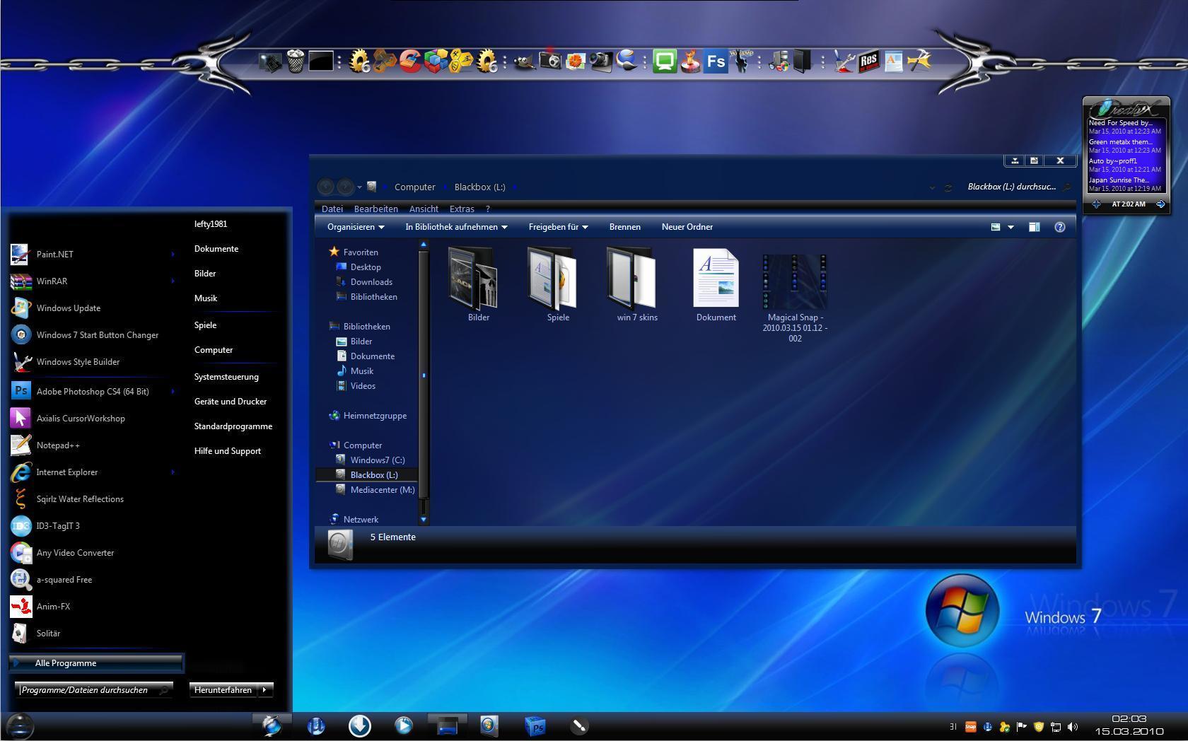 Разнообразные стильные темы для Windows 7 бесплатно
