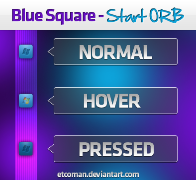 Blue Square Start Orb