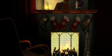 Free Fireplace 3D Screensaver 1.0