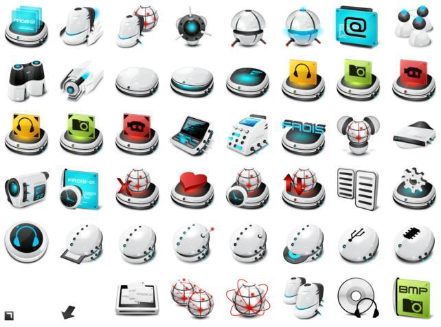 FROIS-01 Icons for MAC and PC (90 icons)