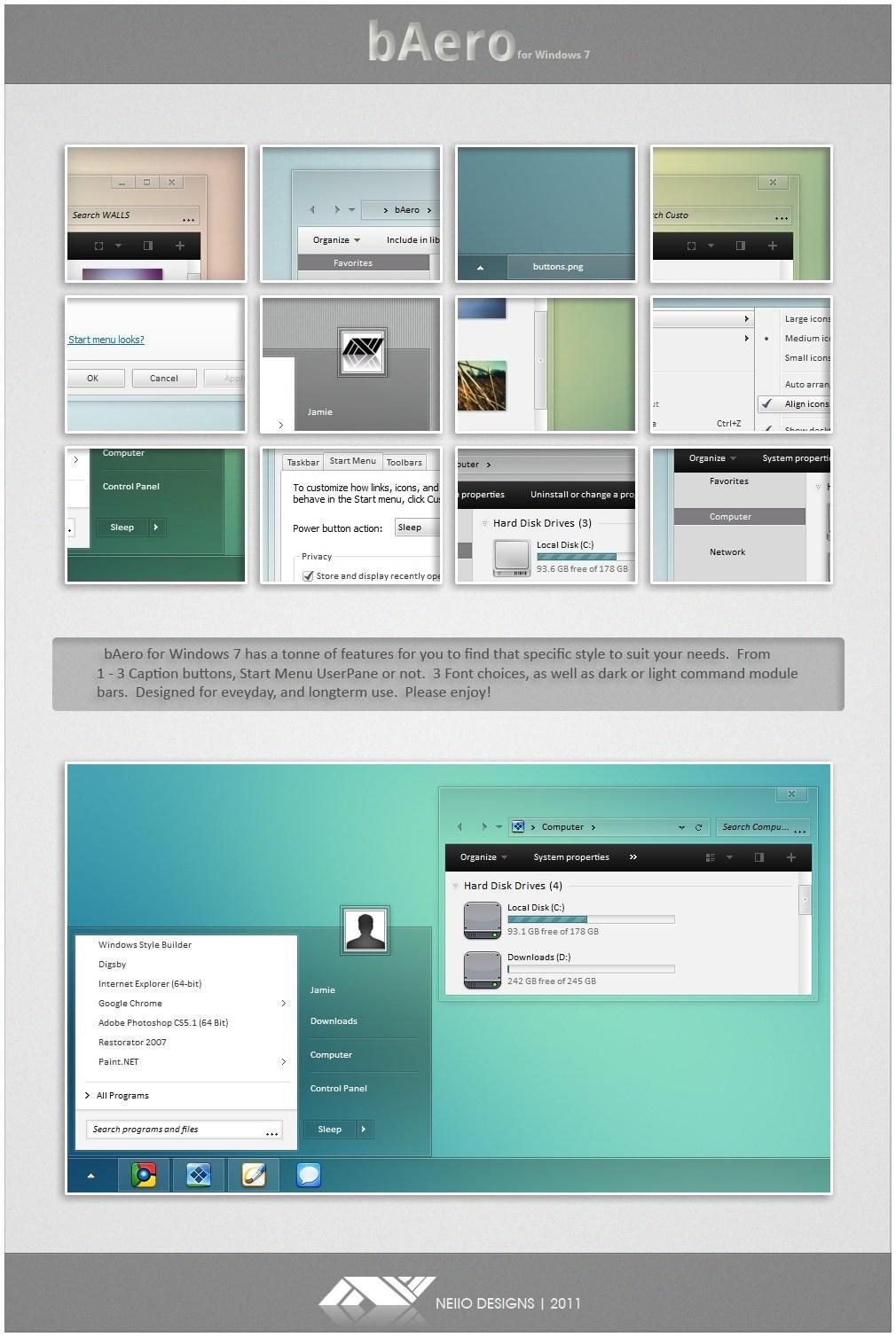 Как на windows xp сделать оформление windows 7