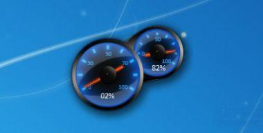 Blue Speed Meter
