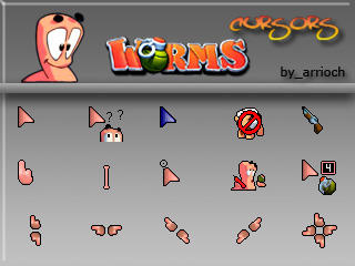 Worms Cursors Full