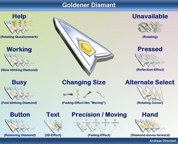 Goldener Diamant