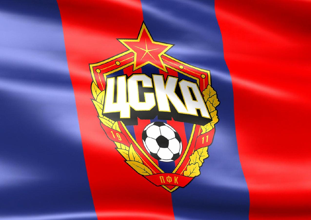 Флаг футбольного клуба цска