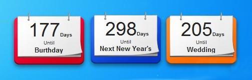 Обратный календарь до нового года
