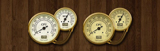 Antique CPU Meter
