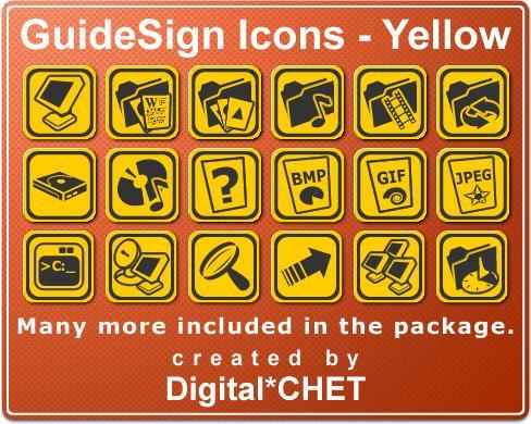 GuideSign Icons Yellow
