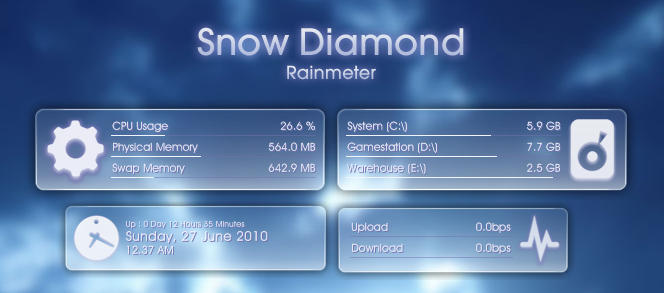 Snow Diamond for Rainmeter