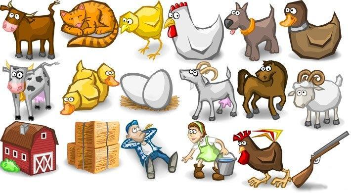 иконки животные: