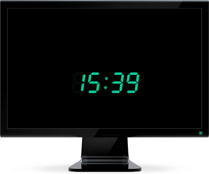 заставка часы на рабочий стол Windows Xp - фото 5