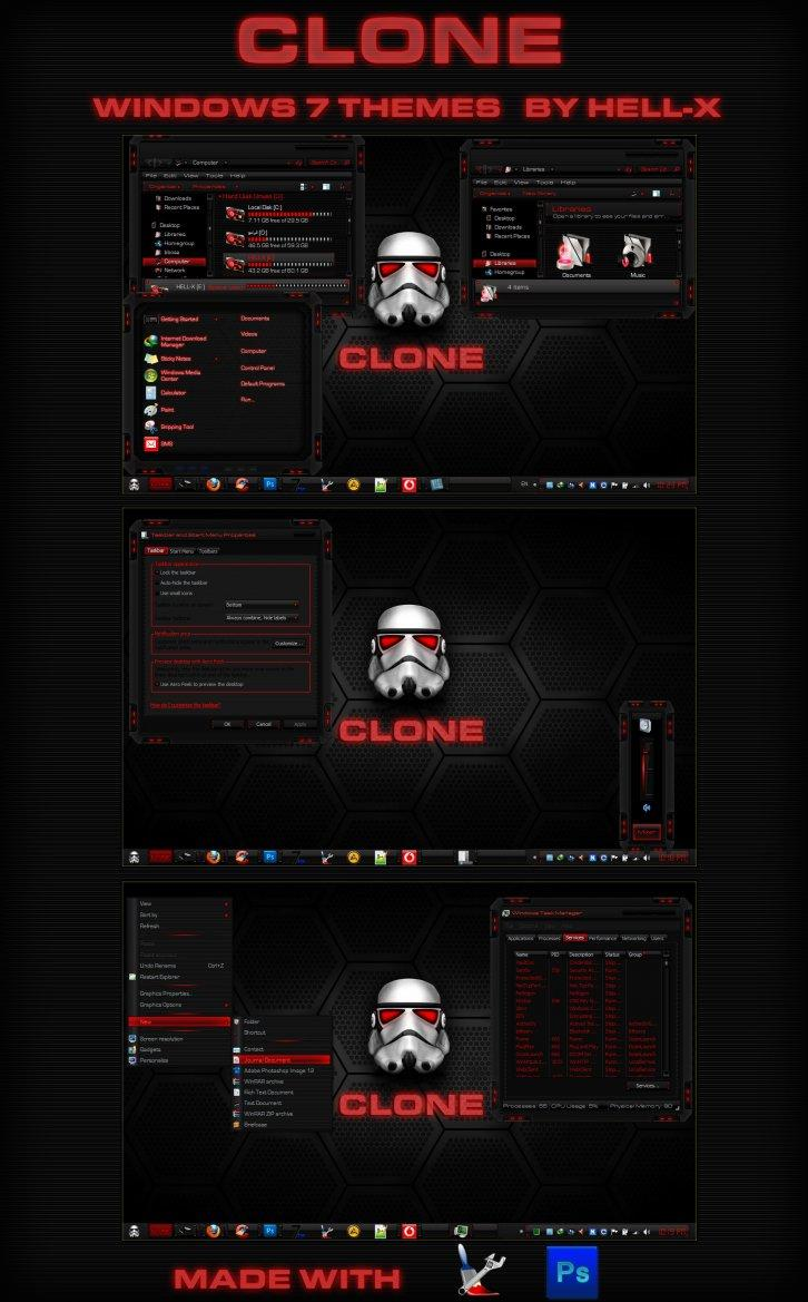 CLONE-RED WINDOWS 7 THEMES