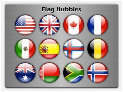 Aqua flag bubble avatars