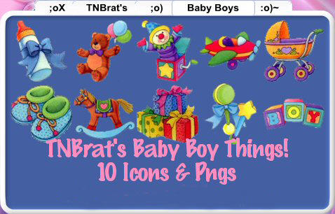 Baby Boy Things Icons Pngs