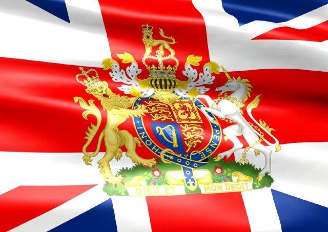 Флаг великобритании с гербом