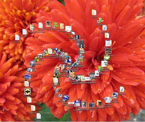 размер иконок на рабочем столе: