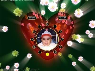 3D Love Clock Screensaver 1.3a