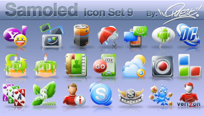 Samoled icon set 9