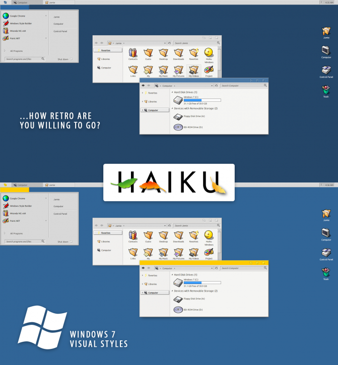 Haiku OS Windows 7