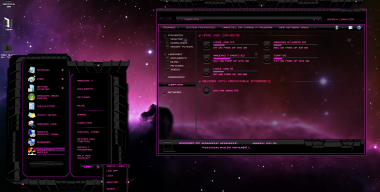 Windows 7 theme Pink Dark Glass