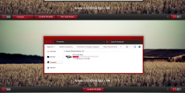 Red Black mn Theme For Windows 7