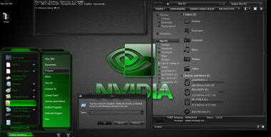 Windows 8.1 Theme Nvidia Green