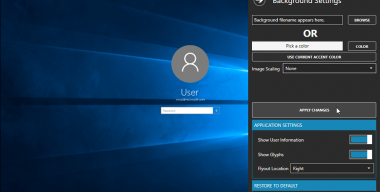 Windows 10 Login Screen Background Changer