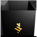 brop-box-empty-black-construstion