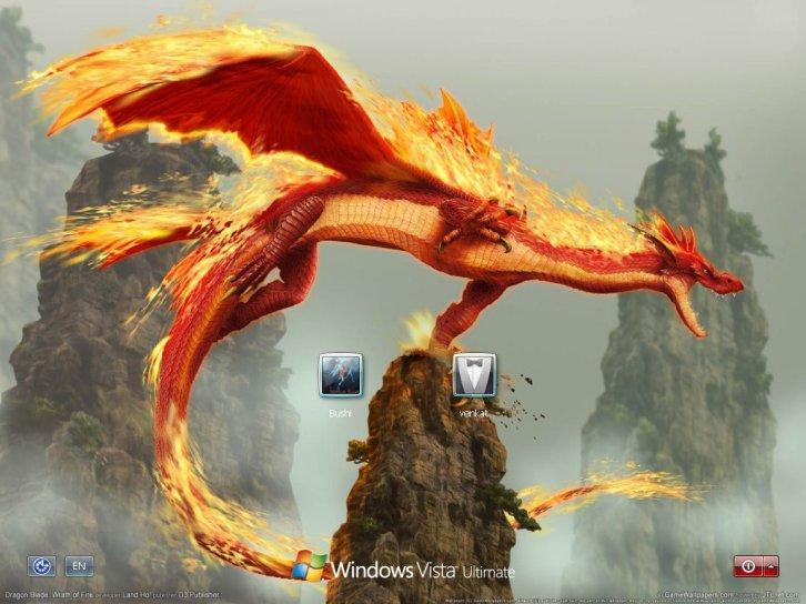 Dragon logon screen for xp