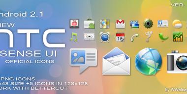 New HTC Sense UI 2.1 Icons