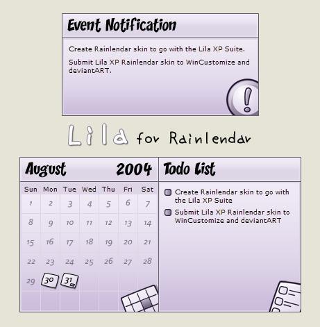 Lila XP for Rainlendar