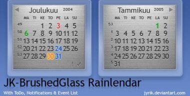 JK-BrushedGlass Rainlendar