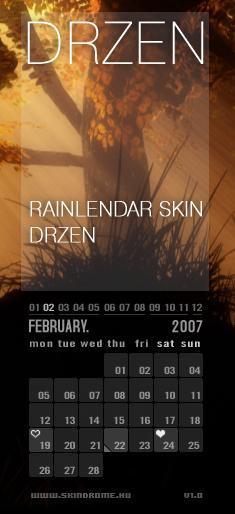 Rainlendar Drzen