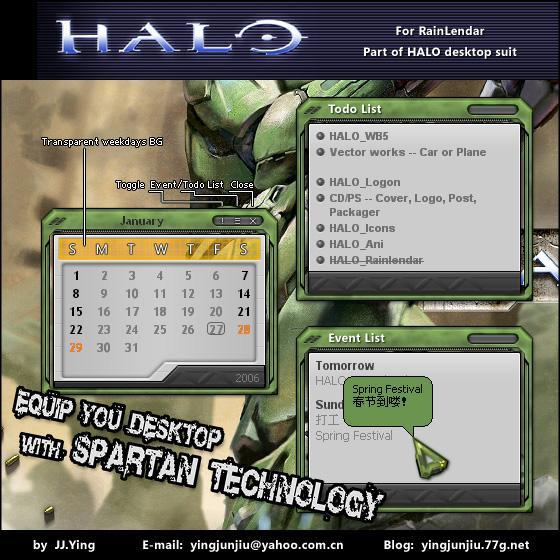 HALO Rainlendar