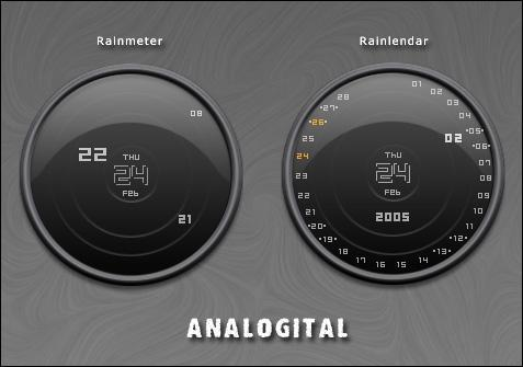 Analogital Rainlendar