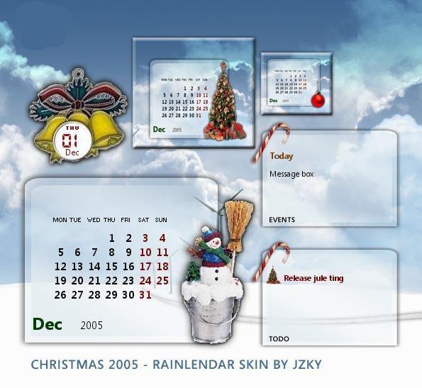 Christmas Rainlendar