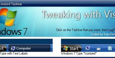 Windows 7 Taskbar Iconizer