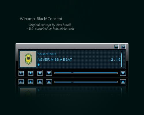 Winamp Black Concept - Coded