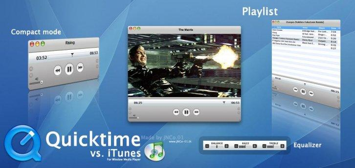Quicktime vs. iTunes skin