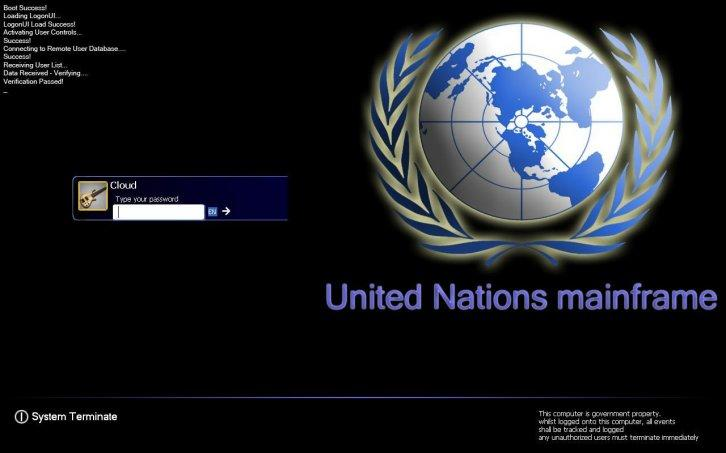 United Nations Logon+Boot+Wall