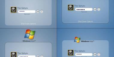 Mockup Windows Vista Logons