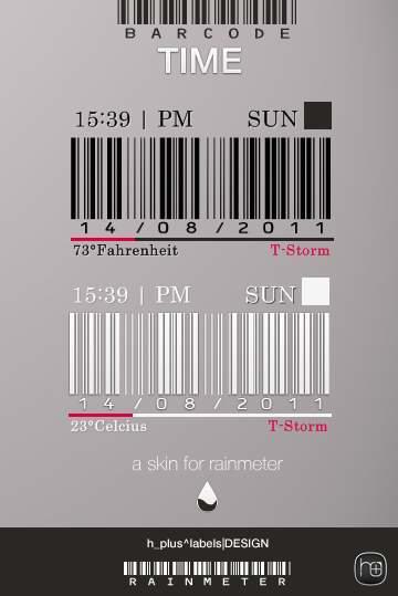 BarCode TIME rainmeter