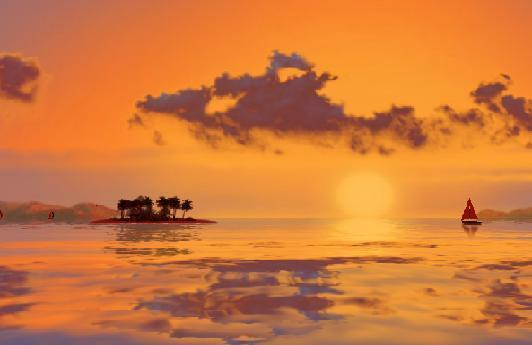 3D Tropical Sunsets