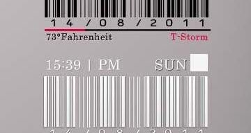 BarCode TIME rainmeter