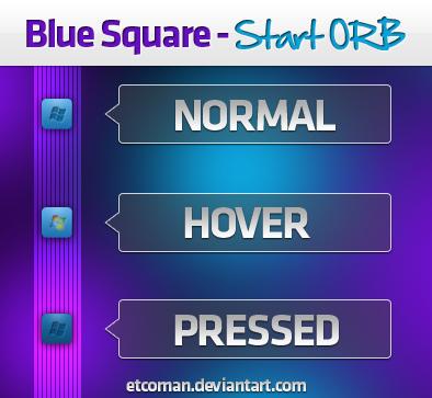 Blue Square Start Orb