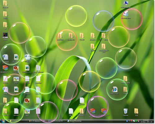 Bubbles screensaver Windows Vista