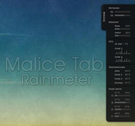 Malice Tab Rainmeter
