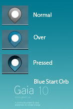 Gaia 10 Blue Start Orb