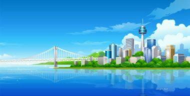 Рисованный город