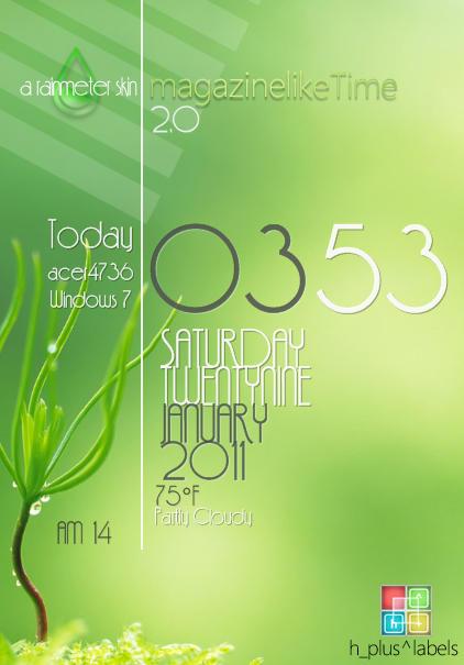 magazinelike Time 2.0_rainmeter
